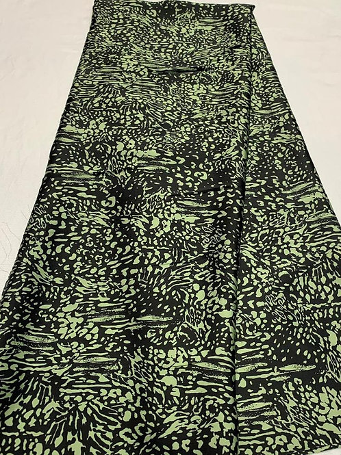 Lisa Mint and Black Italian Silk fabric