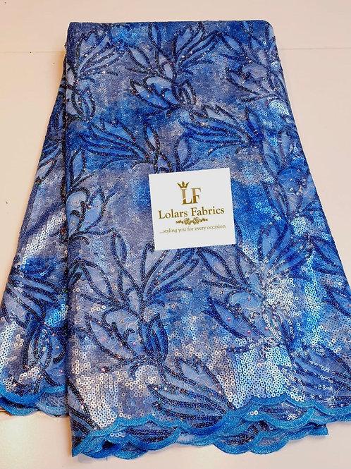 Oyeronke Luxury Shades Of Blue sequinned lace fabrics