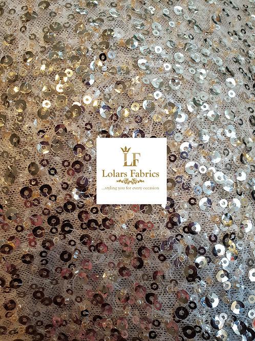 Glamorous Champagne Gold Lace
