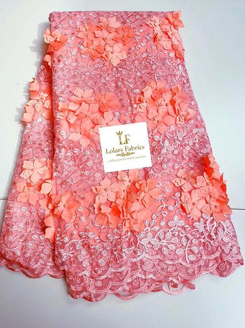 Dara Summer bloom Peach 3d lace