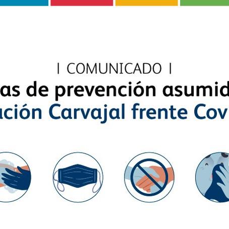 Somos conscientes y responsables ante la declaración del COVID-19 como pandemia.