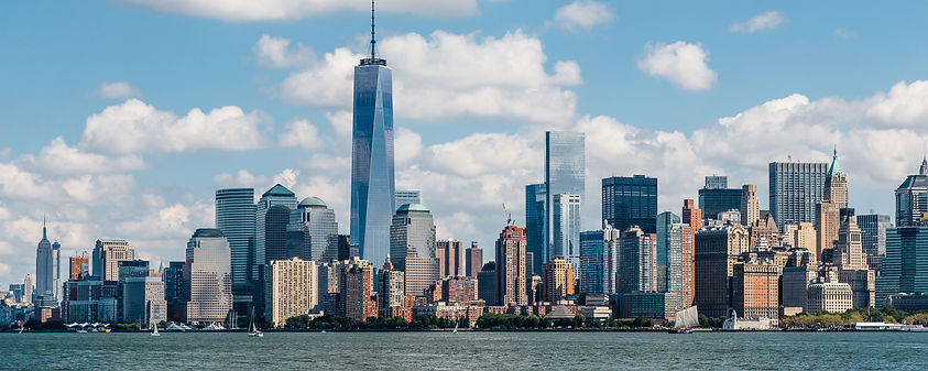 New York City skyline during the day as seen from the NJ waterfront.