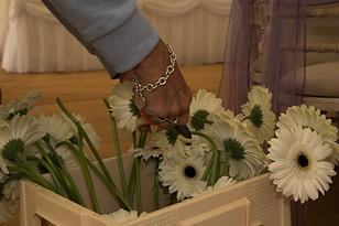 flowers being cut