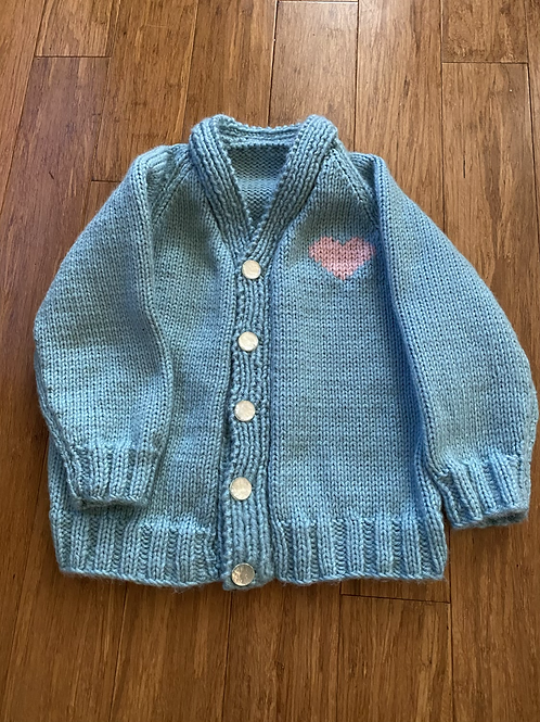 Hand Knit Sweater - 4T