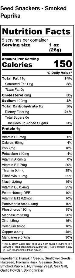 Seed Snackers - Smoked Paprika - Nutriti