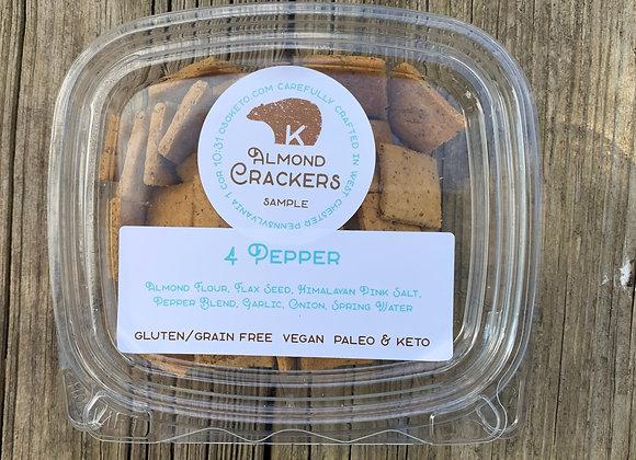 4 Pepper Almond Crackers Sample