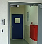 Access controlled door
