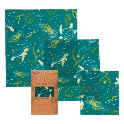 Beeswrap Ocean Print