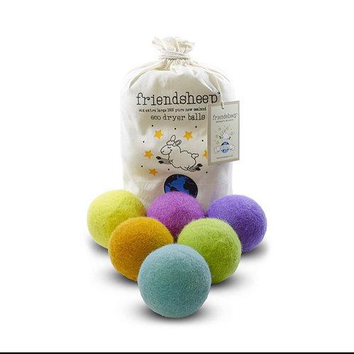 friendsheep dryer balls rainbow (set of 6)