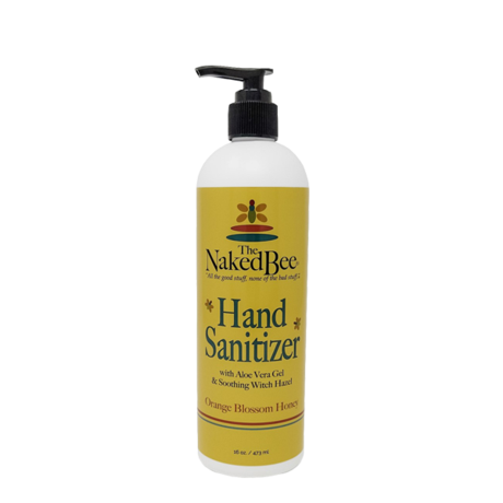 Naked Bee Hand Sanitizer Orange Blossom Honey 16 oz