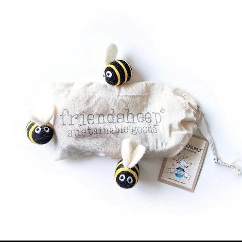 friendsheep dryer balls bees (set of 3)