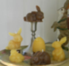 Easter themed beeswax candles