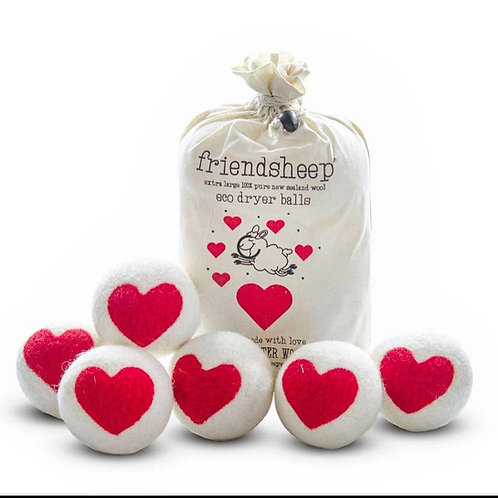 friendsheep dryer balls Hearts (set of 6)
