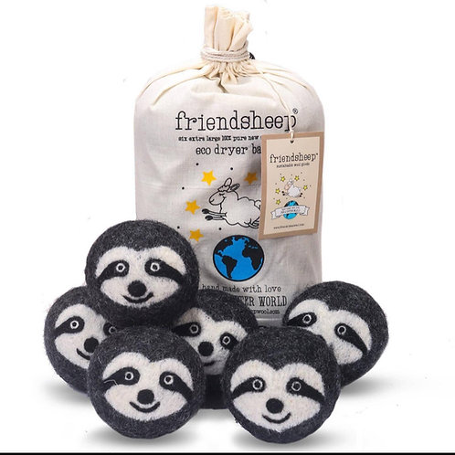 friendsheep dryer balls sloths (set of 6)