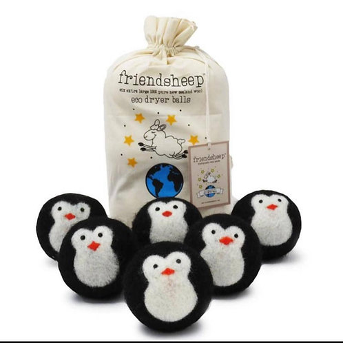 friendsheep dryer balls penguins (set of 6)