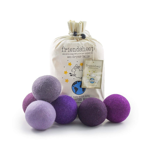 friendsheep dryer balls purple haze (set of 6)