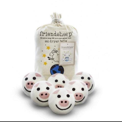 friendsheep dryer balls piggies (set of 6)