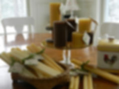 Beeswax pillars and tapers candles