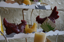 barnyard animals candles