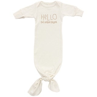 Organic Cotton Gown, Hello I'm New Here