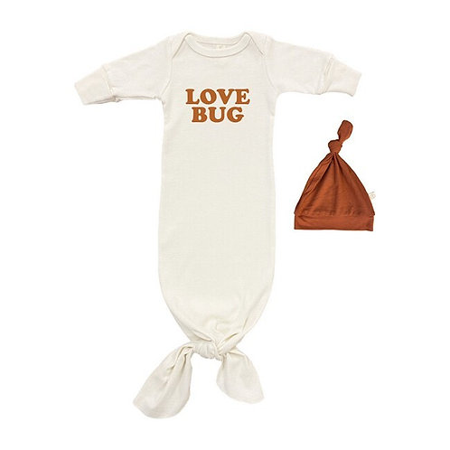 Organic Cotton Gown, Love Bug