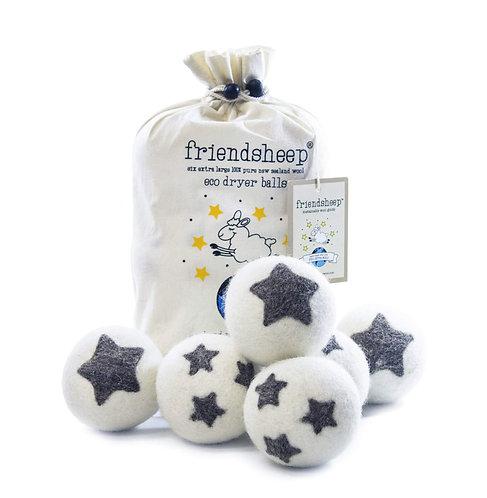 friendsheep dryer balls stars galore (set of 6)