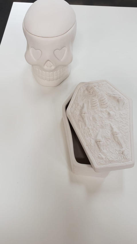 Skeleton and Skull Box