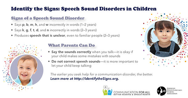 Signs of speech disorders
