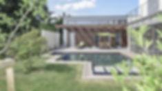 Anbau an ein Einfamilienhaus mit Schwimmteich