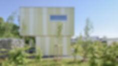 Seitenansicht Einfamilienhaus Bauhausstil