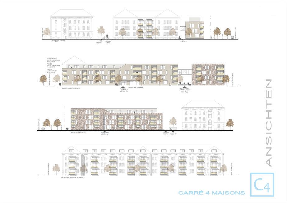 Ansichten Carre Quatre Maisons