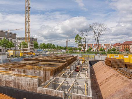 Neubau von 86 Wohnungen & Lebensmittelmarkt mit 53.000 cbm in Landau in der schönen Pfalz