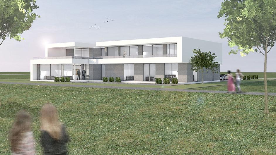 Visualisierung Villa Hangseite