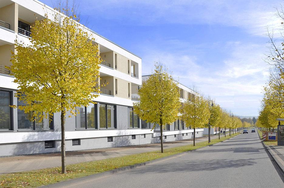 Studio 33 Außenansicht Robert-Schuman-Alle