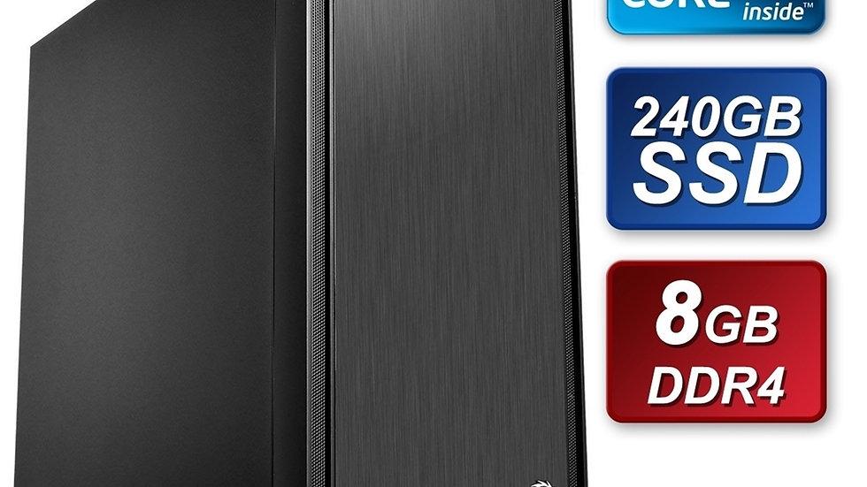 Thermaltake Intel i3 9100 3.60GHz Quad Core 8GB DDR4 RAM 240GB SSD Cooler Master