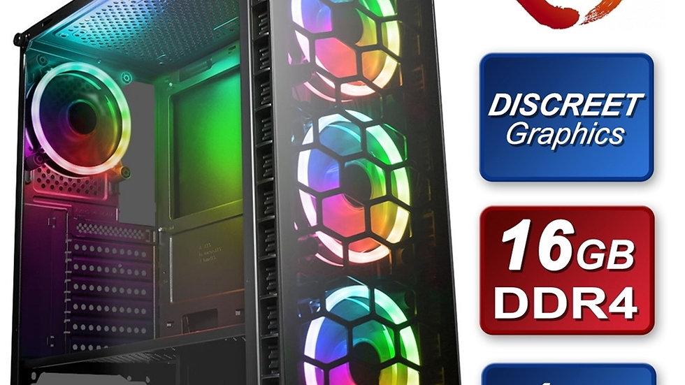 Raider RGB AMD Ryzen 2600 3.6GHZ Six Core 16GB RAM 256GB SSD + 1TB HDD with Giga