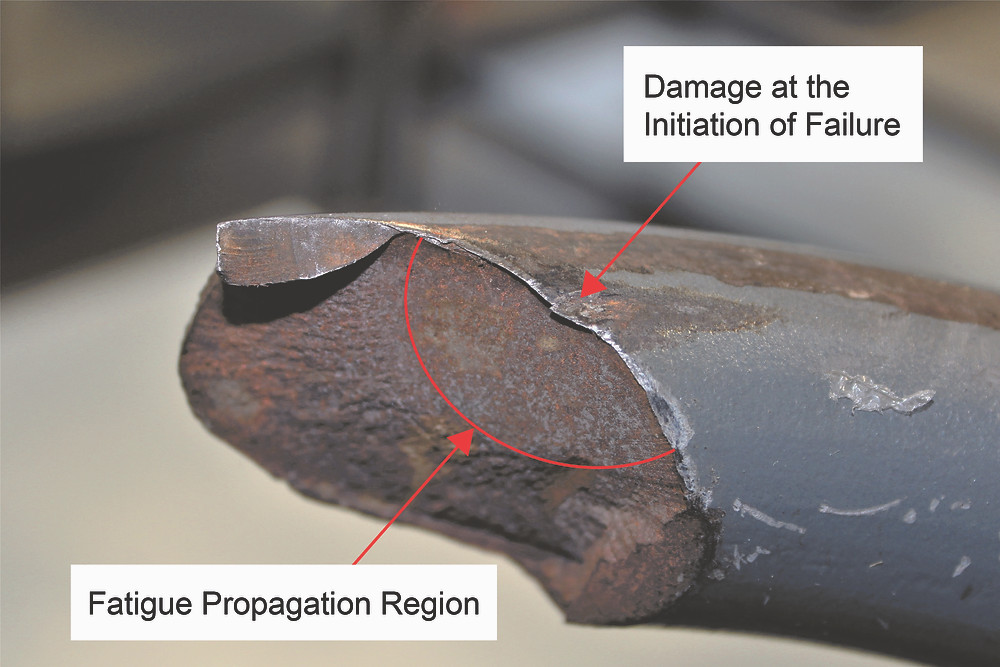 Figure 2: Showing one of the fracture faces