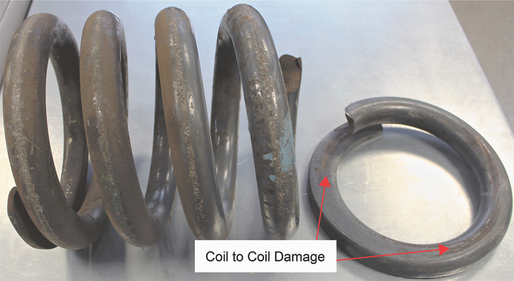 Figure 1: Showing a failed train bogie suspension spring.