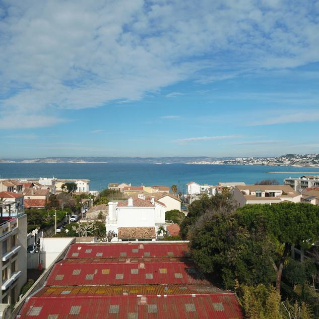 Simulation de balcon photo drone promotion Immobilière