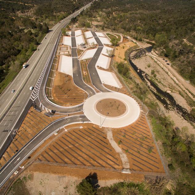 Suivi de chantier Aire d'autoroute