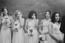 emotional candid bridesmaids