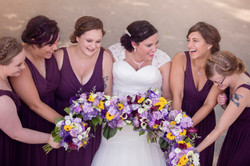 candid bridal party photo