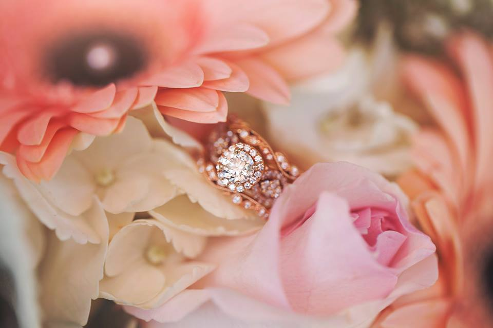 detailed wedding ring shot