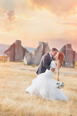 ruins wedding