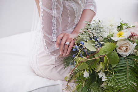 wedding ring wedding dress floral boquet
