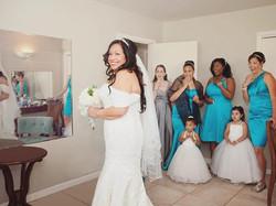 bridesmaid first look photo