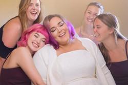 bridal party embrace photo