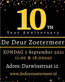 10 jaar bestaan De Deur Zoetermeer