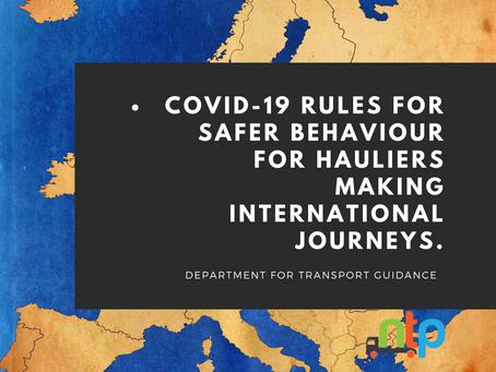 Coronavirus (COVID-19): safer practice for international hauliers