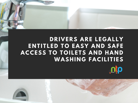 Access to toilet and hand washing facilities for drivers - DoT letter ensures you won't get refused